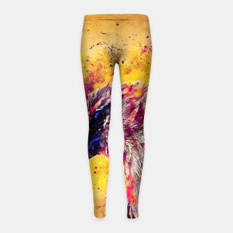 Thumbnail image of spotted madagascar fody wslsh Girl's leggings, Live Heroes