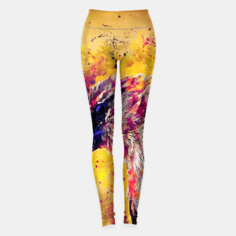 Thumbnail image of spotted madagascar fody wslsh Leggings, Live Heroes