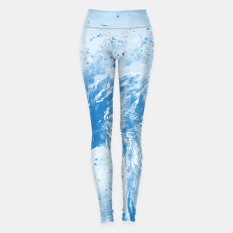 Thumbnail image of spotted madagascar fody wswb Leggings, Live Heroes