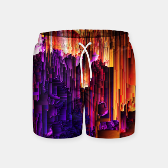 Miniatur Fragmented Confusions Swim Shorts, Live Heroes