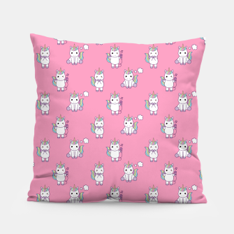 Thumbnail image of Cute Unicorns pattern  Pillow, Live Heroes
