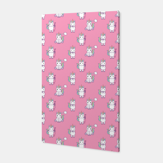 Thumbnail image of Cute Unicorns pattern  Canvas, Live Heroes
