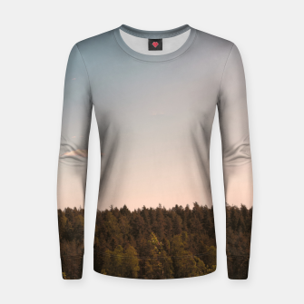Miniatur Sky and forest Women sweater, Live Heroes