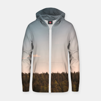 Miniatur Sky and forest Zip up hoodie, Live Heroes
