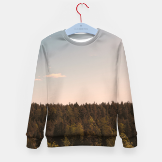Miniatur Sky and forest Kid's sweater, Live Heroes