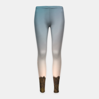 Miniatur Sky and forest Girl's leggings, Live Heroes