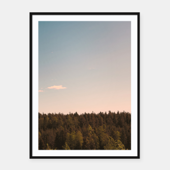 Miniatur Sky and forest Framed poster, Live Heroes