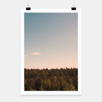 Miniatur Sky and forest Poster, Live Heroes