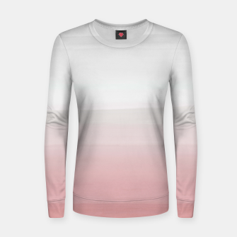 Thumbnail image of Touching Blush Gray Watercolor Abstract #3 #painting #decor #art  Frauen sweatshirt, Live Heroes