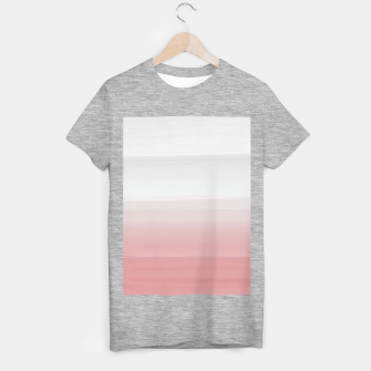 Thumbnail image of Touching Blush Gray Watercolor Abstract #3 #painting #decor #art  T-Shirt regulär, Live Heroes