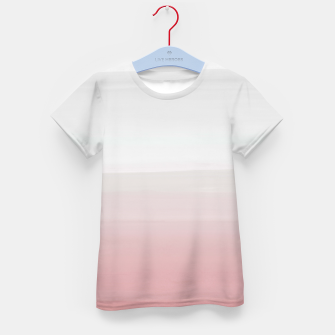 Thumbnail image of Touching Blush Gray Watercolor Abstract #3 #painting #decor #art  T-Shirt für kinder, Live Heroes