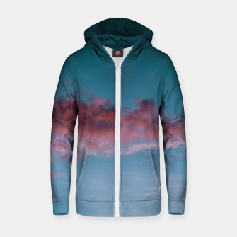 Thumbnail image of Sunset clouds 3 Zip up hoodie, Live Heroes