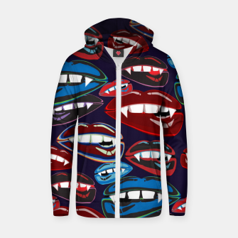Thumbnail image of Funky Vampire Lips Zip up hoodie, Live Heroes