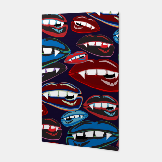 Thumbnail image of Funky Vampire Lips Canvas, Live Heroes