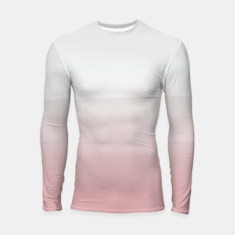 Thumbnail image of Touching Blush Gray Watercolor Abstract #3 #painting #decor #art  Longsleeve rashguard, Live Heroes