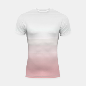 Thumbnail image of Touching Blush Gray Watercolor Abstract #3 #painting #decor #art  Shortsleeve rashguard, Live Heroes
