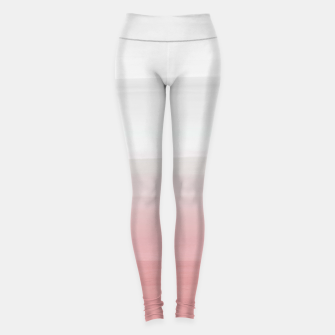 Thumbnail image of Touching Blush Gray Watercolor Abstract #3 #painting #decor #art  Leggings, Live Heroes