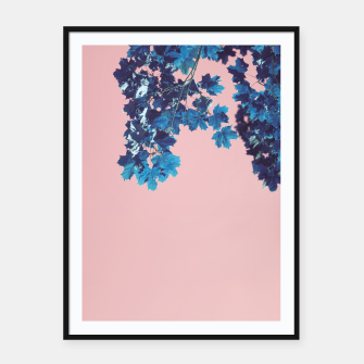 Miniatur Maple branches Framed poster, Live Heroes
