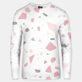 Blush Gray White Terrazzo #1 #decor #art Unisex sweatshirt obraz miniatury