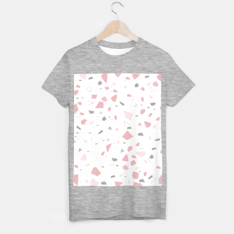 Blush Gray White Terrazzo #1 #decor #art T-Shirt regulär obraz miniatury