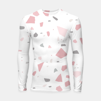 Thumbnail image of Blush Gray White Terrazzo #1 #decor #art Longsleeve rashguard, Live Heroes