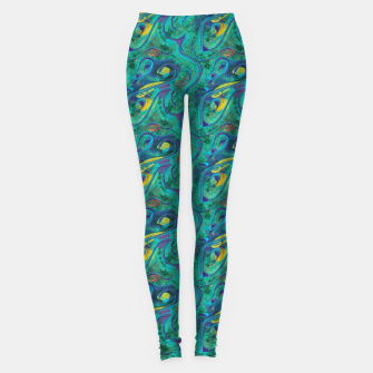 Thumbnail image of Peacock Abstract Leggings, Live Heroes