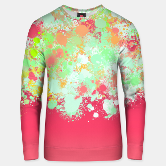paint splatter on gradient pattern tgpi Unisex sweater miniature