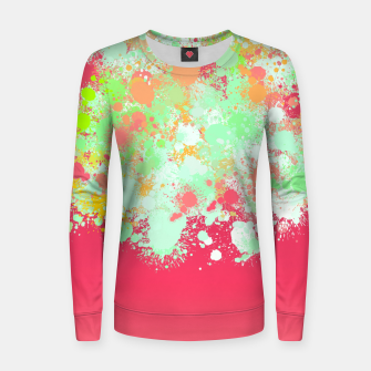 paint splatter on gradient pattern tgpi Women sweater miniature