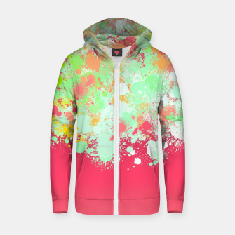 paint splatter on gradient pattern tgpi Zip up hoodie miniature