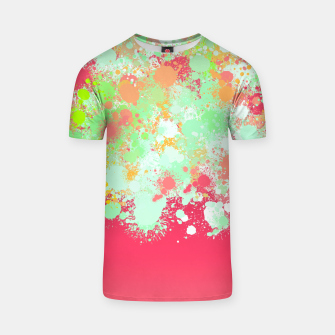 paint splatter on gradient pattern tgpi T-shirt miniature