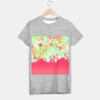 paint splatter on gradient pattern tgpi T-shirt regular miniature