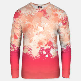 paint splatter on gradient pattern bti Unisex sweater miniature