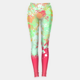 paint splatter on gradient pattern tgpi Leggings miniature