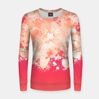 paint splatter on gradient pattern bti Women sweater miniature