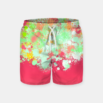 paint splatter on gradient pattern tgpi Swim Shorts miniature