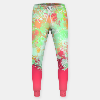 paint splatter on gradient pattern tgpi Sweatpants miniature