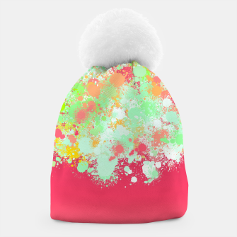 paint splatter on gradient pattern tgpi Beanie miniature