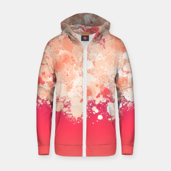 paint splatter on gradient pattern bti Zip up hoodie miniature