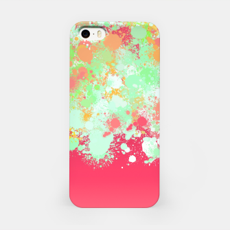 paint splatter on gradient pattern tgpi iPhone Case miniature