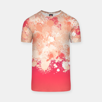 paint splatter on gradient pattern bti T-shirt miniature