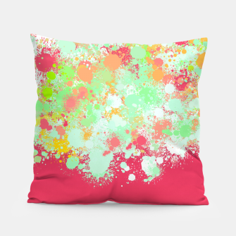 paint splatter on gradient pattern tgpi Pillow miniature