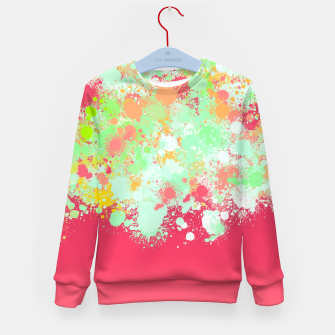 paint splatter on gradient pattern tgpi Kid's sweater miniature