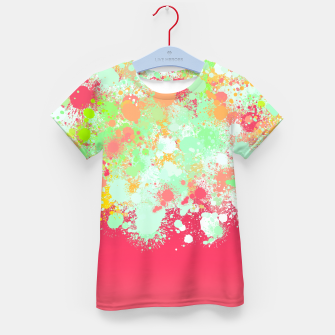 paint splatter on gradient pattern tgpi Kid's t-shirt miniature