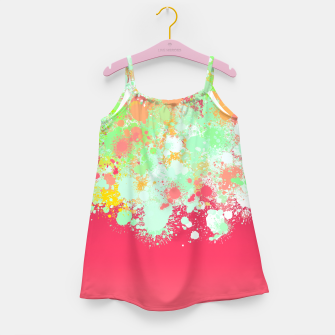 paint splatter on gradient pattern tgpi Girl's dress miniature