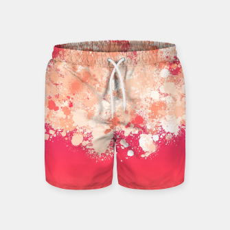 paint splatter on gradient pattern bti Swim Shorts miniature