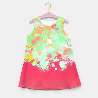 paint splatter on gradient pattern tgpi Girl's summer dress miniature