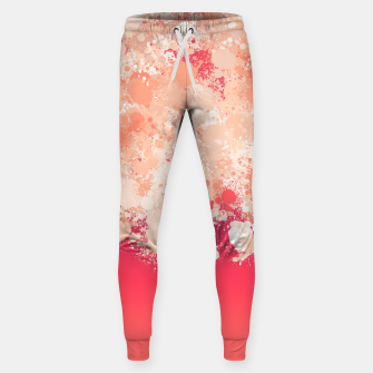 paint splatter on gradient pattern bti Sweatpants miniature