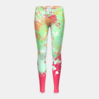paint splatter on gradient pattern tgpi Girl's leggings miniature