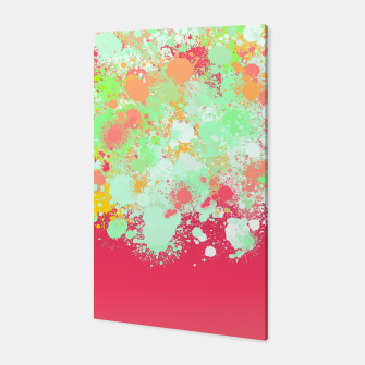 paint splatter on gradient pattern tgpi Canvas miniature