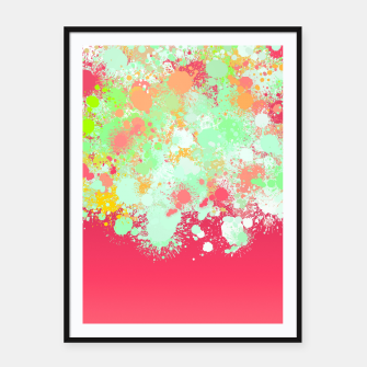 paint splatter on gradient pattern tgpi Framed poster miniature